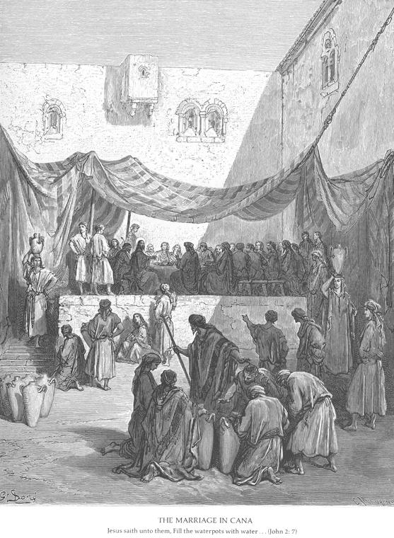 библия в гравюрах гюстава доре брак в кане галилейской